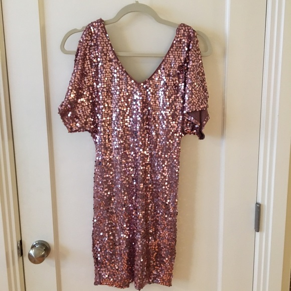 As U Wish Dresses & Skirts - As U Wish blush sequin dress